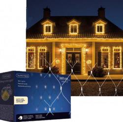 Novogodišnji ukrasi - Spoljašnja novogdišnja LED svetleća mreža 100x480cm Toplo bela Lumineo Icicle ( 494901 )