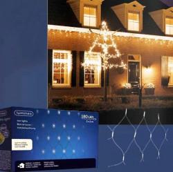 Novogodišnji ukrasi - Spoljašnja novogodišnja LED svetleća mreža 200x200cm Toplo bela Lumineo Icicle ( 494884 )