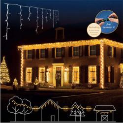 Novogodišnji ukrasi - Spoljašnji LED svetleći niz Topla bela 119L Lumineo Icicle ( 494813 )
