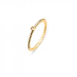 Paul Hewitt Rope North Star Zlatni Prsten Od Hirurškog Čelika 54