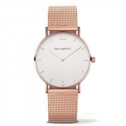 Paul Hewitt Sailor Line Beli Roze Zlatni ručni sat sa roze zlatnim pancir kaišem