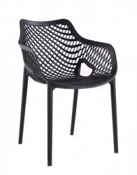 Plastična stolica TREE - Crna