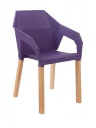 Plastična trpezarijska stolica ORIGAMI - Ljubičasta