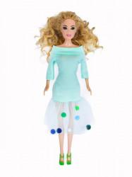 Pom pom haljina ( H-01 ) pastel zelena
