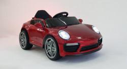 Porsche WMT-911 Dečiji Auto na akumulator sa kožnim sedištem i mekim gumama - Crveni