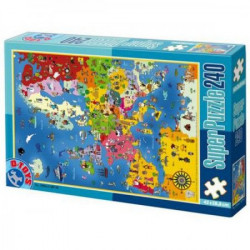 Super Puzzle 240PCS MAPS 01 ( 07/50663-01 )