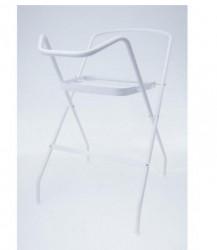 Tega metalni stalak za kadicu sa korpom 86cm,beli ( A010607 )