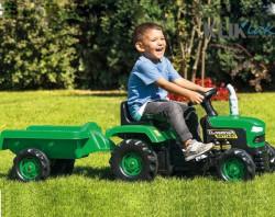 Traktor na pedale sa prikolicom Farmer zeleni - podesivo sedište (do 7 godina)