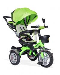 Tricikl Guralica Playtime AM 408 LUX sa rotirajucim sedistem Zeleni - mekano sedište - gume na naduvavanje
