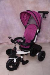 Tricikl za decu T06 sa podesivim naslononom - Pink