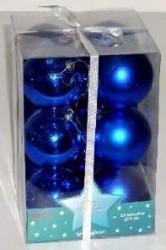 Ukrasne kuglice 8cm 12kom plave ( 51-4040000 )
