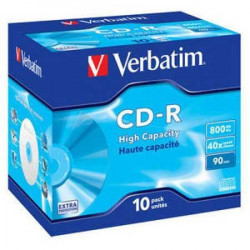 Verbatim 43428 43427 CD-R 90MIN 800MB 40X 10 PACK JC ( 79V/Z )