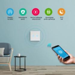 Wi-Fi smart prekidač svetla 2x5A ( WFPS-W2/WH )