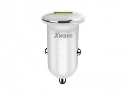 Xwave USB auto punjač za mobilne, tablete, 1 xUSB, 5V srebrno-bela ( C20 )