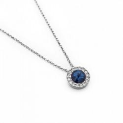 Ženska Victoria Cruz Premium Denim Blue Ogrlica Sa Swarovski Plavim Kristalom