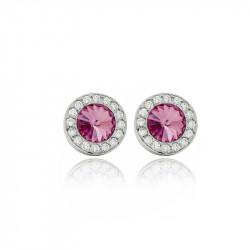 Ženske Victoria Cruz Premium Rose Mindjuše Sa Swarovski Roze Kristalom