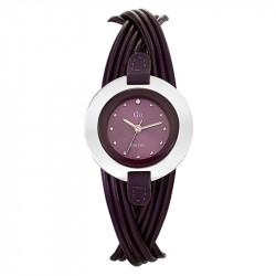 Ženski Girl Only Enlace moi Ljubičasti Elegantni ručni sat sa ljubičastim kožnim kaišem