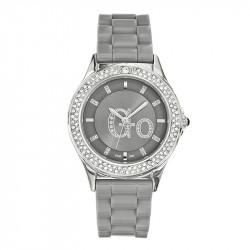 Ženski Girl Only Go Cristaux Sivi Modni ručni sat sa sivim gumenim kaišem