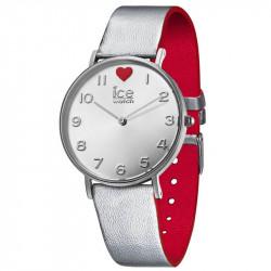 Ženski Ice Watch Ice love Srebrno Crveni Modni Ručni Sat