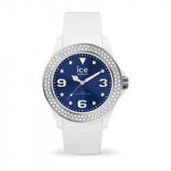 Ženski Ice Watch Ice Star White Deep Blue Beli Elegantno Sportski Ručni Sat Sa Swarovski Kristalima