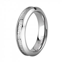 Ženski Lotus Style Steel Rings UŽi Staklo Prsten Od Hirurškog čelika 54