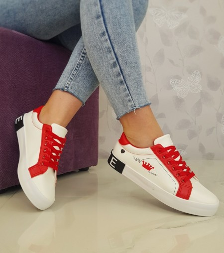 "Poze Tenisi ""Madison"" COD: 18-27 White/Red"