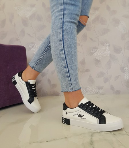 "Poze Tenisi ""Madison"" COD: 18-27 White/Black"