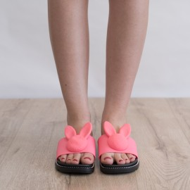 "Poze Papuci ""Bunny"" COD: A-29 Pink"
