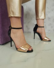 "Sandale ""Cary"" COD: 138-8 Black/Champagne"