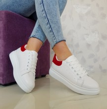 "Pantofi Sport ""Dolly"" R-32 White/Red"