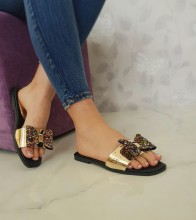 "Papuci ""Evette"" COD: Y882 Gold"