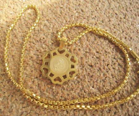 Lant dama +medalion INOX ( otel inoxidabil ) cod mihasem605