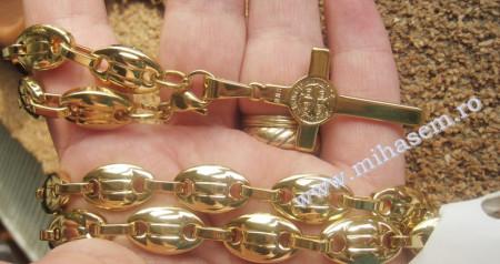 Lant +medalion  INOX  placat  ( otel inoxidabil ) cod mihasem324