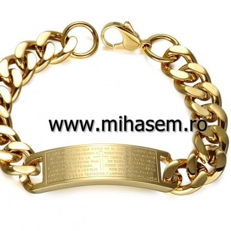 Bratara INOX placat ( otel inoxidabil ) cod mihasem497