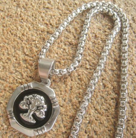 Poze Lant +medalion INOX ( otel inoxidabil ) cod mihasem499