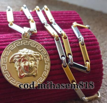 Lant +medalion INOX placat ( otel inoxidabil ) cod mihasem818