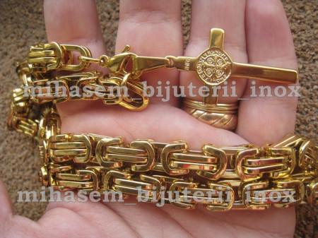 Lant +medalion INOX placat  ( otel inoxidabil ) cod mihasem112