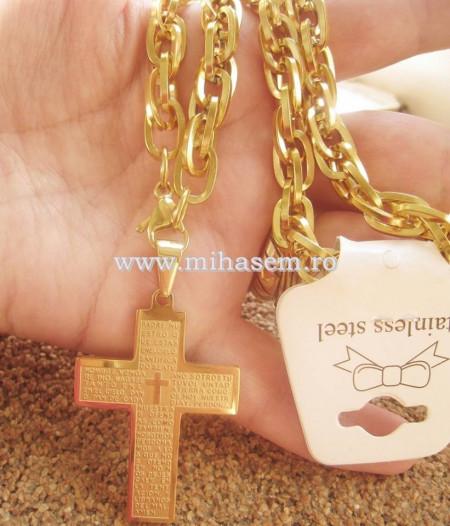 Lant +medalion INOX placat ( otel inoxidabil ) cod mihasem336