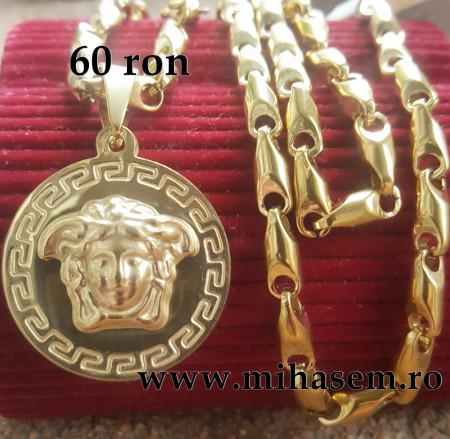 Poze Lant +medalion INOX placat ( otel inoxidabil ) cod mihasem504