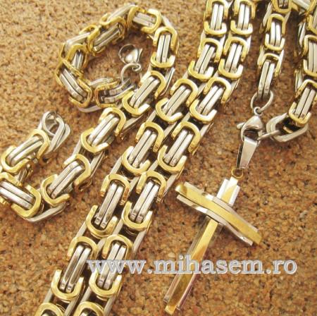SET Lant +medalion+bratara INOX  ( otel inoxidabil ) cod mihasem483