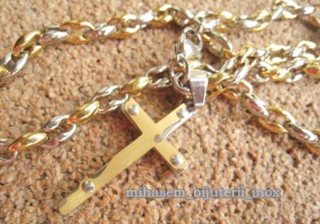 Lant +medalion + bratara INOX  ( otel inoxidabil ) cod mihasem501