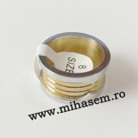 Inel INOX placat ( otel inoxidabil ) cod mihasem663
