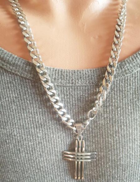Lant +medalion INOX( otel inoxidabil ) cod mihasem726