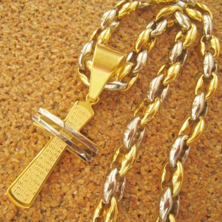 Lant +medalion   INOX  placat  ( otel inoxidabil ) cod mihasem579