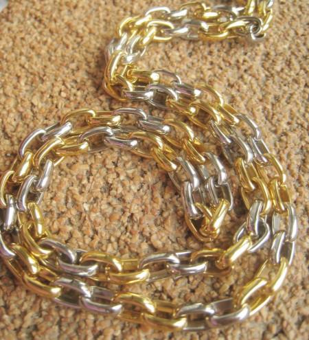 Lant +medalion INOX placat ( otel inoxidabil ) cod mihasem616