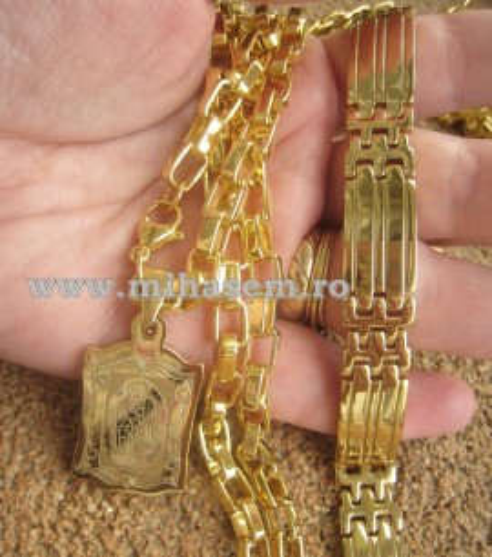 SET Lant +medalion +bratara  INOX  ( otel inoxidabil ) cod mihasem257
