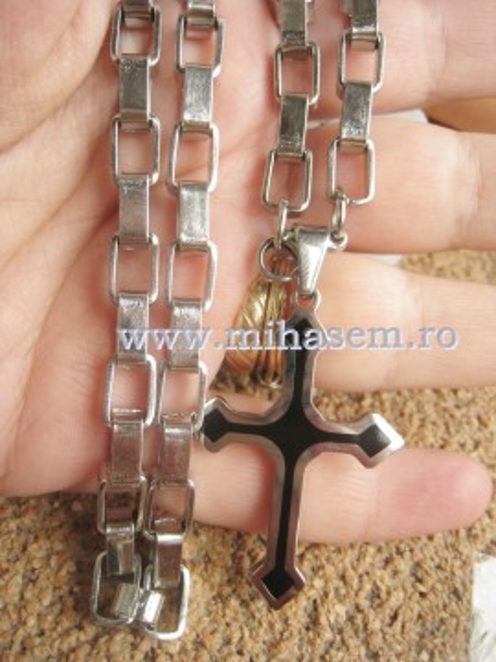 Lant +medalion INOX  ( otel inoxidabil ) cod mihasem380