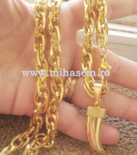 Lant +medalion INOX  placat  ( otel inoxidabil ) cod mihasem335