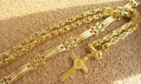 SET Lant +medalion+bratara   INOX placat  ( otel inoxidabil ) cod mihasem543