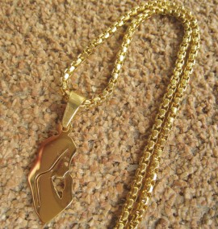 Lant dama +medalion INOX ( otel inoxidabil ) cod mihasem604